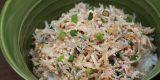 瀬戸内海の春ちりめんとタラコのアヒージョ丼