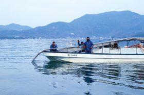 瀬戸内海の海苔漁師さん